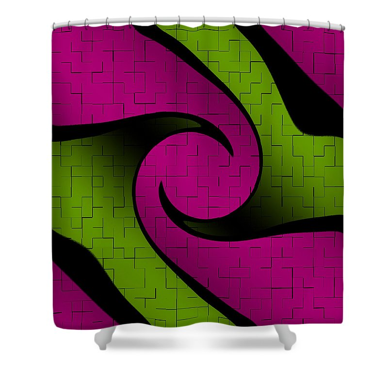 Pink And Green Shower Curtain For Sale By Becca Buecher