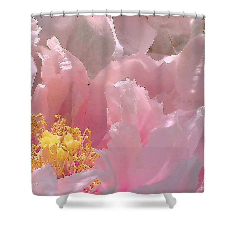 Pink Shower Curtain featuring the photograph Pink Peonies 2 by Cindy Greenstein