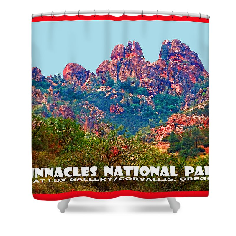 Pinnacles National Park. National Parks. Travel Posters. California. American West. Shower Curtain featuring the photograph Pinnacles National Park II by Michael Moore