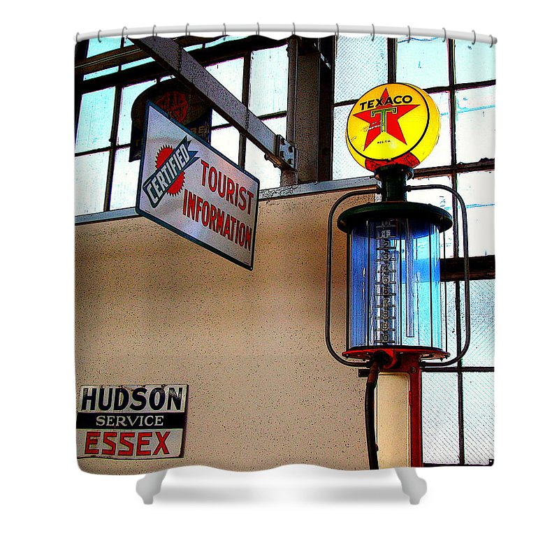 Fine Art Shower Curtain featuring the photograph Pit Stop by Rodney Lee Williams