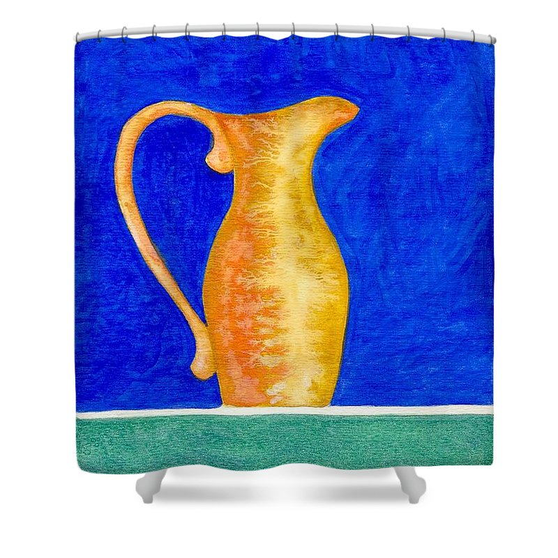 Still Life Shower Curtain featuring the painting Pitcher 2 by Micah Guenther