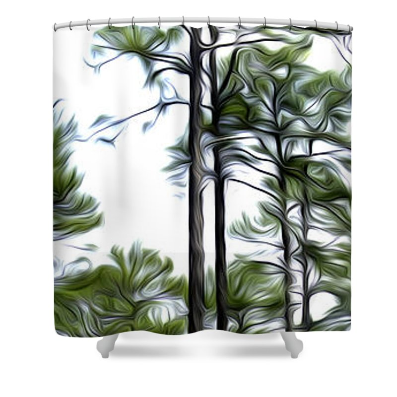 Pine Shower Curtain featuring the photograph Pixelated Pine by James Ekstrom
