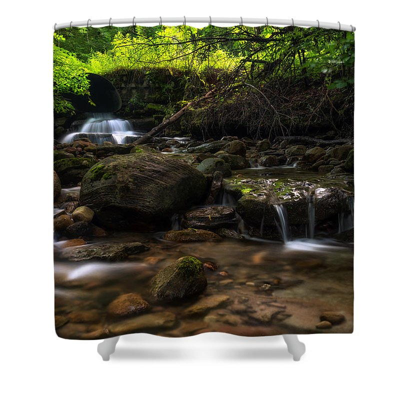 Office Decor Shower Curtain featuring the photograph Pixley Falls State Park 2 by Mark Papke