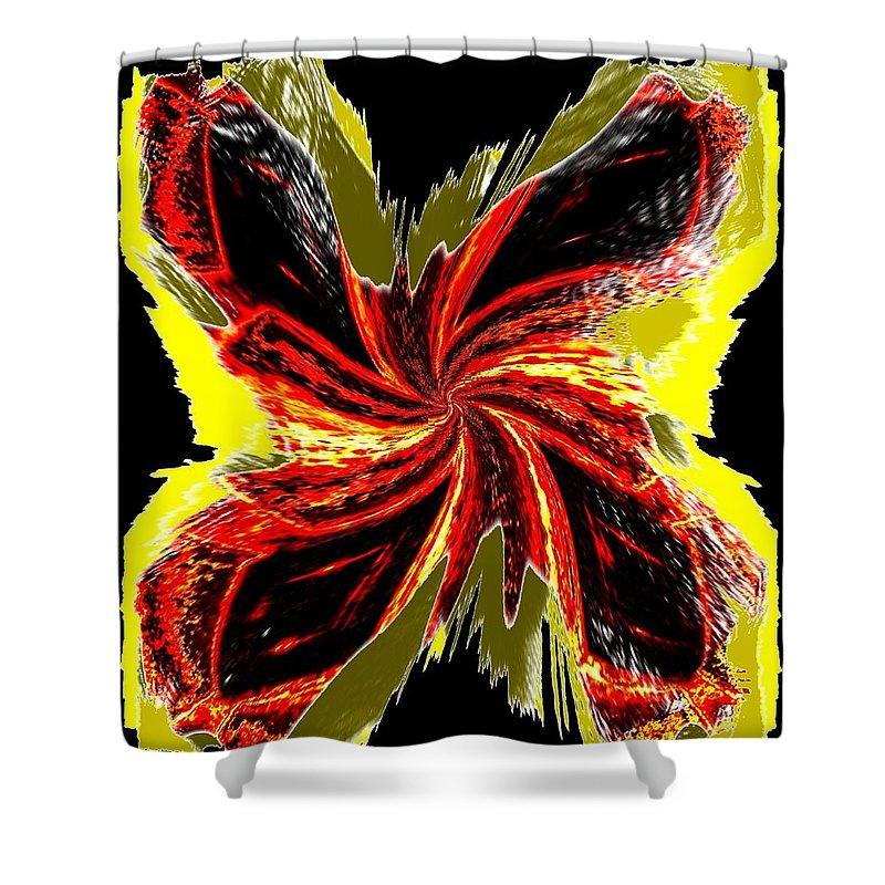 Abstract Shower Curtain featuring the digital art Pizzazz 48 by Will Borden