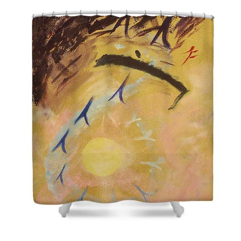 Painting Shower Curtain featuring the painting Place Of Light by Karen Francis
