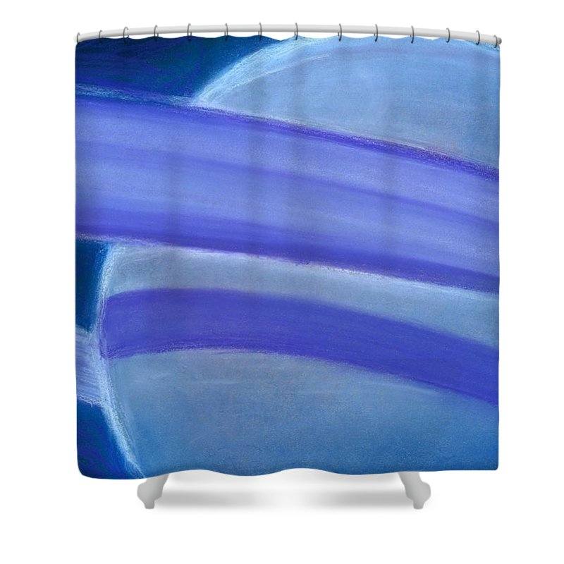 Planet Shower Curtain featuring the drawing Planets 2 by Matthew Howard
