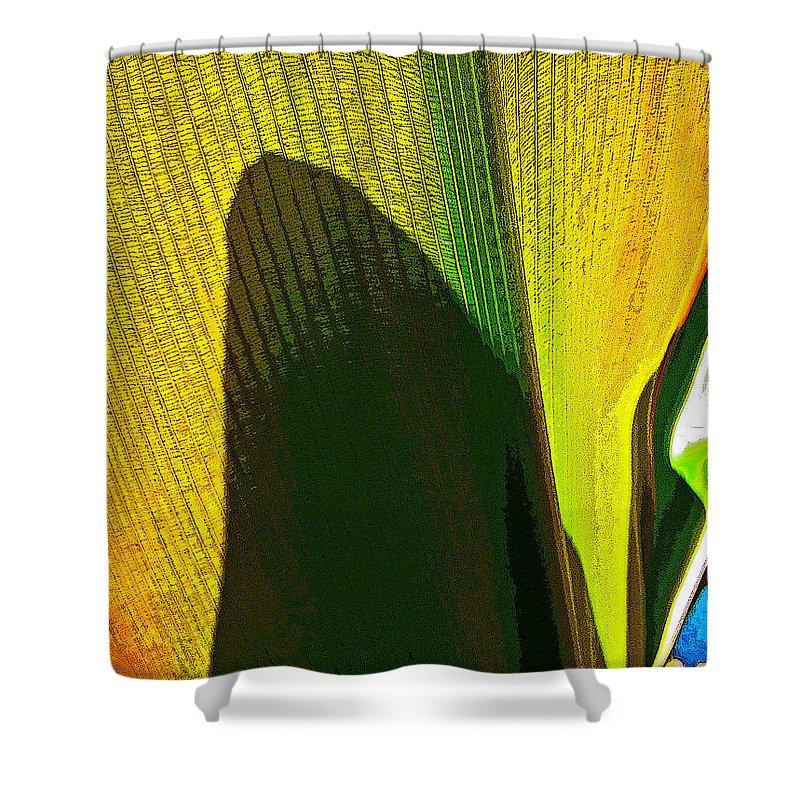 #plantart #surreal #abstract #contemporaryart #modernart #streetart #zazzle #photog #togs #fineart #deals Shower Curtain featuring the photograph Plant Art 1 by Steve Lipson