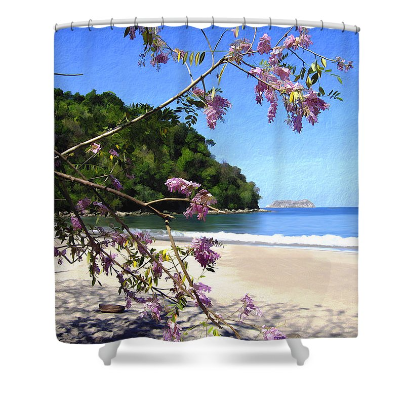 Beach Shower Curtain featuring the photograph Playa Espadillia Sur Manuel Antonio National Park Costa Rica by Kurt Van Wagner