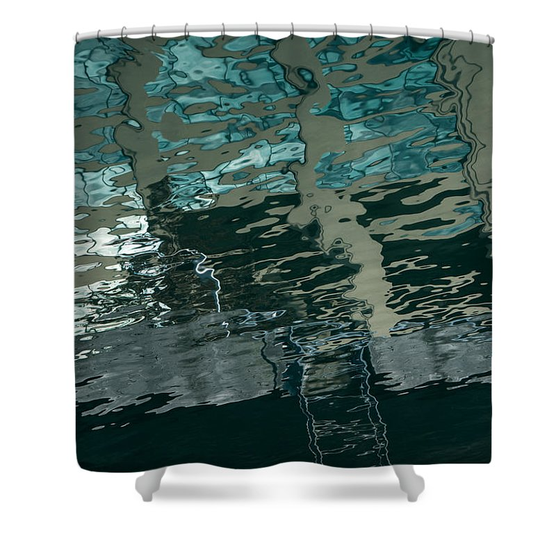 Reflection Shower Curtain featuring the photograph Playful Abstract Reflections by Georgia Mizuleva