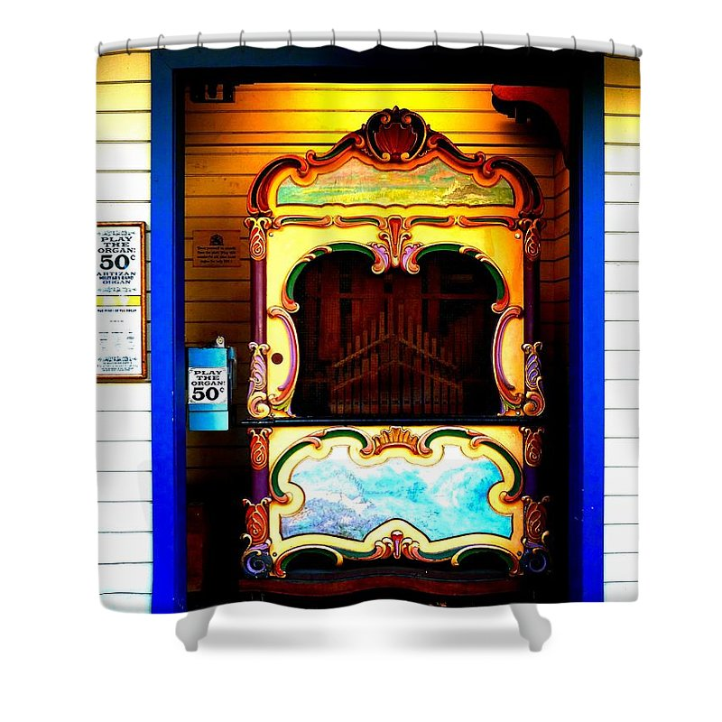 Newel Hunter Shower Curtain featuring the photograph Playing The Organ by Newel Hunter