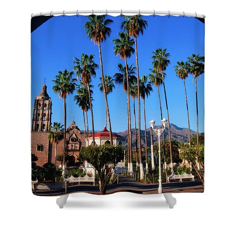 Arch Shower Curtain featuring the photograph Plaza De Armas by John Elk