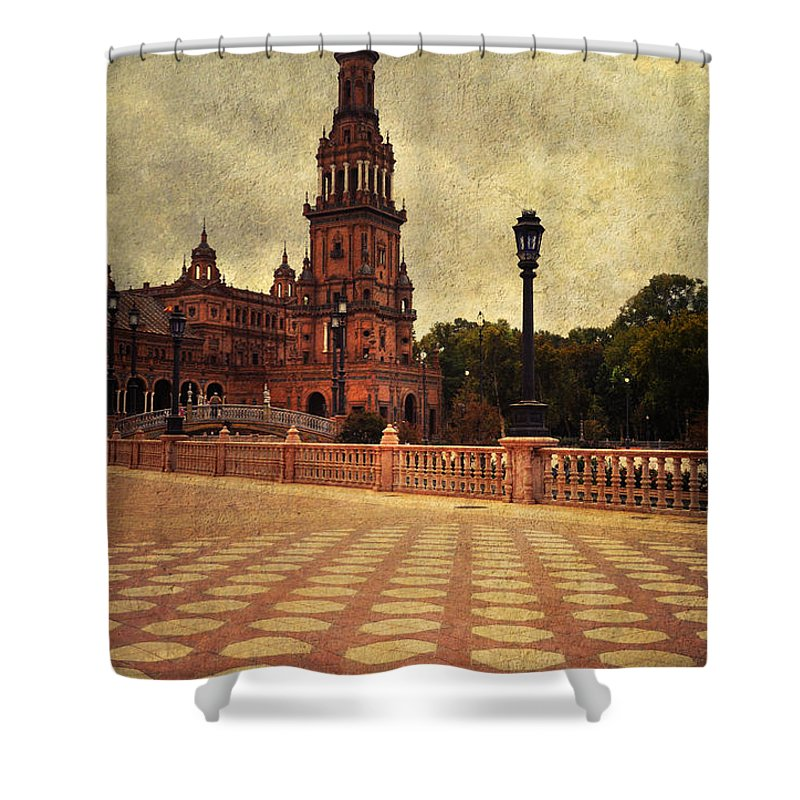 Seville Shower Curtain featuring the photograph Plaza De Espana 8. Seville by Jenny Rainbow
