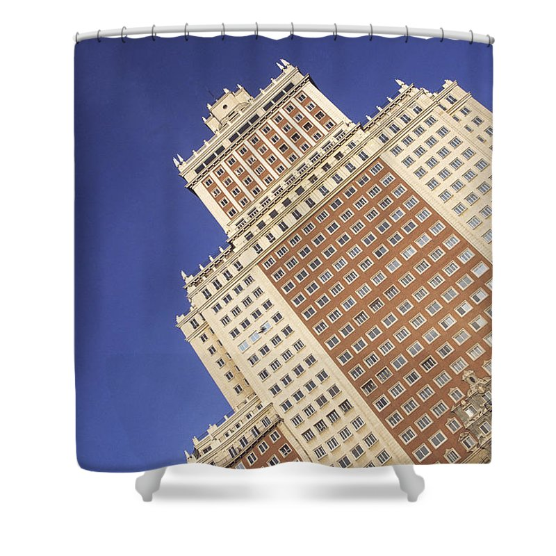 Spain Shower Curtain featuring the photograph Plaza Espana Madrid by James Brunker