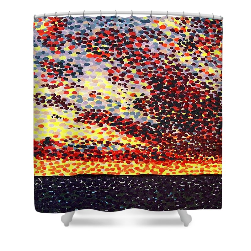 Plum Clouds Shower Curtain featuring the painting Plum Clouds by Alan Hogan
