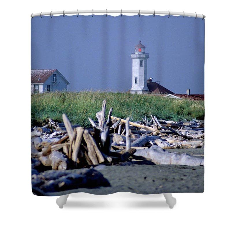 Point Wilson Shower Curtain featuring the photograph Point Wilson by Sharon Elliott