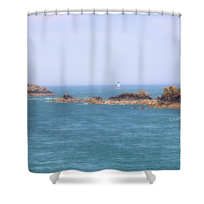 Pointe Du Grouin Shower Curtain featuring the photograph Pointe Du Grouin - Brittany by Joana Kruse
