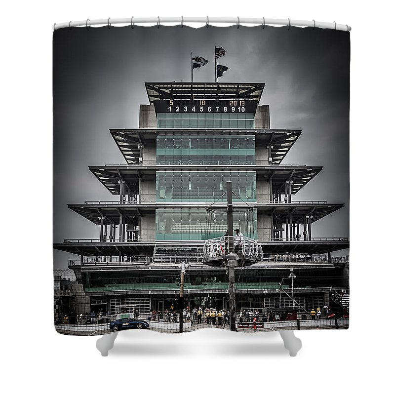 2013 Shower Curtain featuring the photograph Pole Day At The Indy 500 by Ron Pate