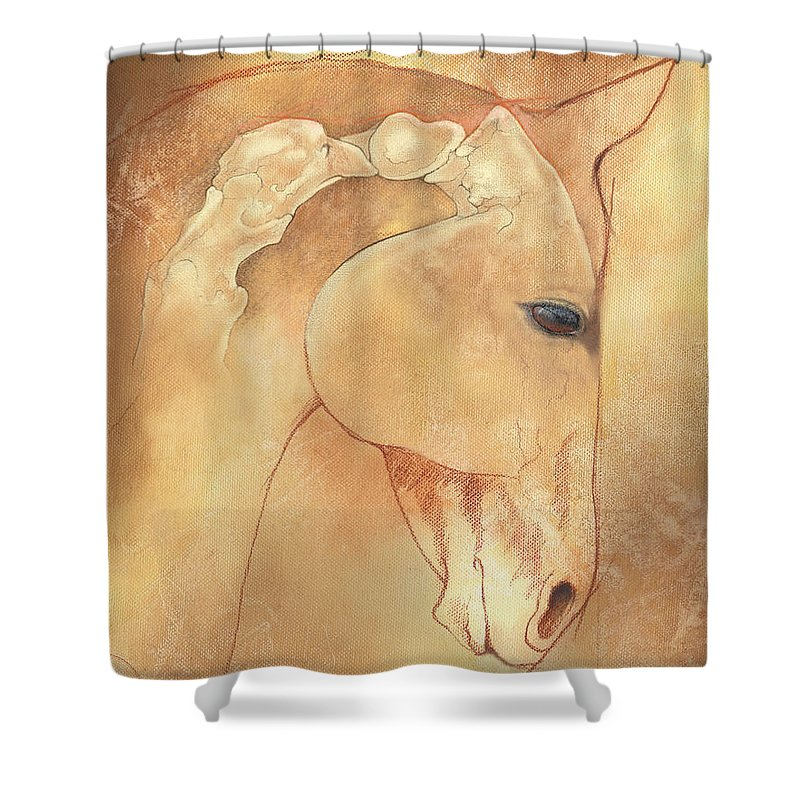 Atlas Shower Curtain Featuring The Painting Poll Meet Axis By Catherine Twomey