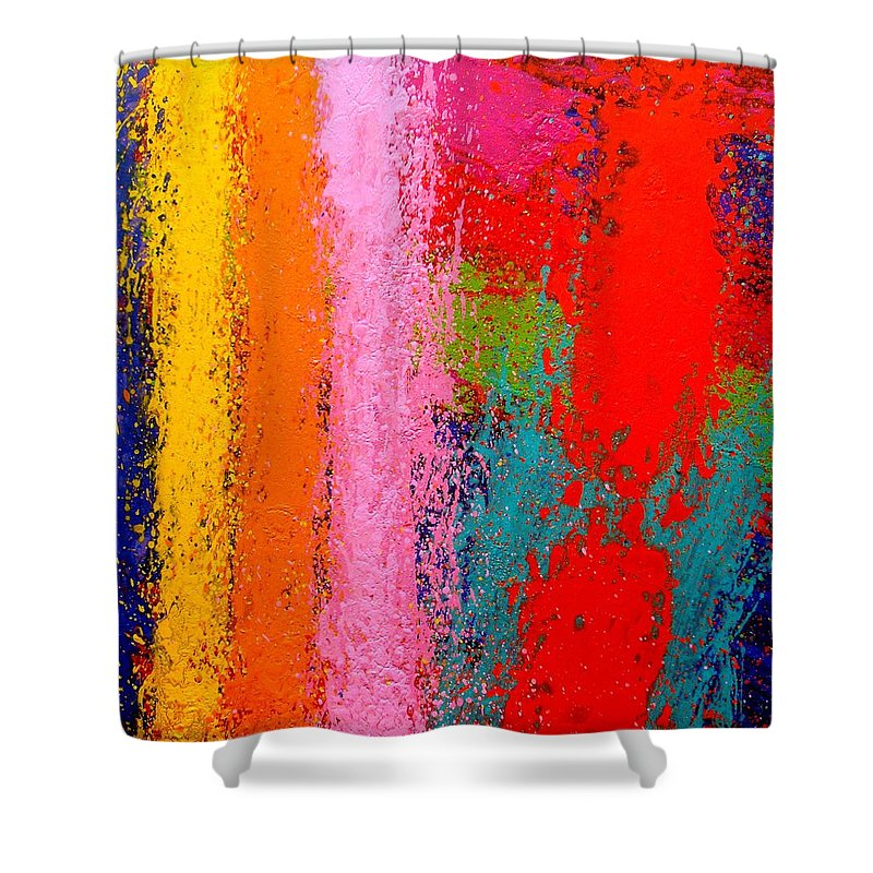 Abstract Shower Curtain featuring the painting Polyphony IIi by John Nolan