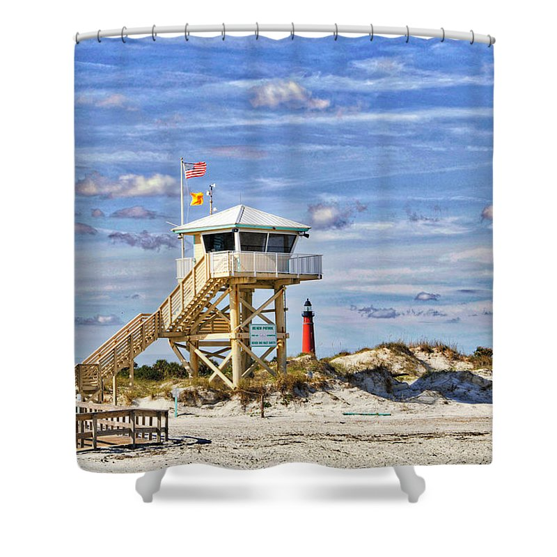 Ponce Inlet Shower Curtain featuring the photograph Ponce Inlet Scenic by Alice Gipson