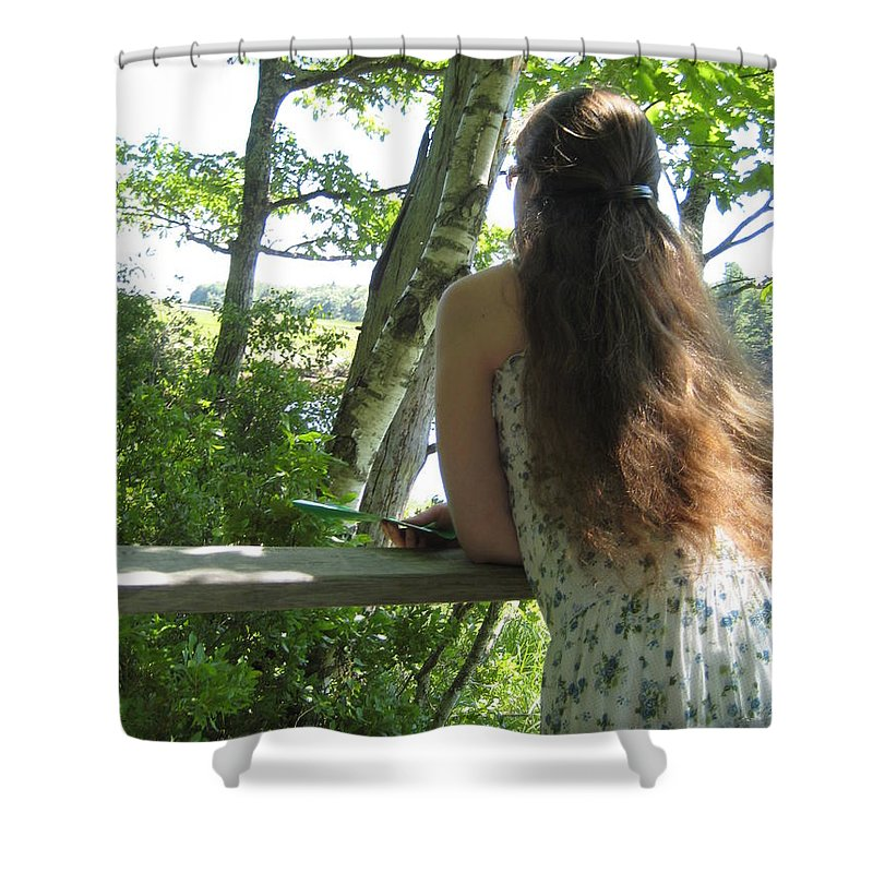 Pondering Shower Curtain featuring the photograph Pondering by Melissa McCrann