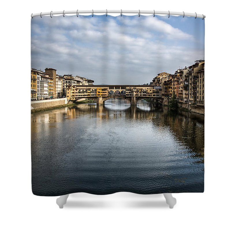 Italy Shower Curtain featuring the photograph Ponte Vecchio by Dave Bowman
