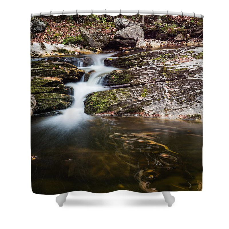 Kent Falls State Park Shower Curtain featuring the photograph Pooling River by Geoffrey Bolte