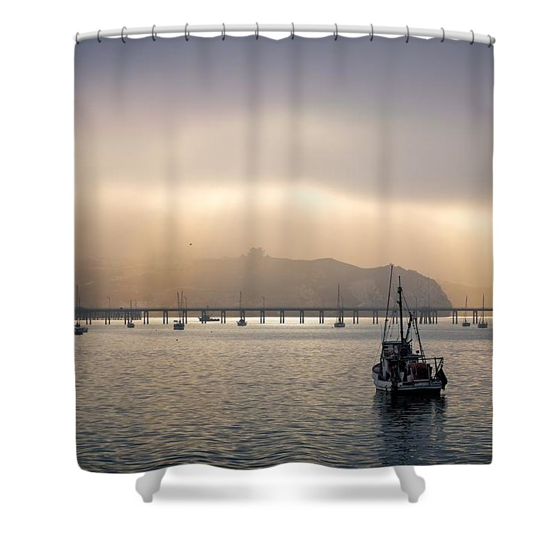 Port San Luis Shower Curtain featuring the photograph Port San Luis At Dawn 009 by Steven Clark