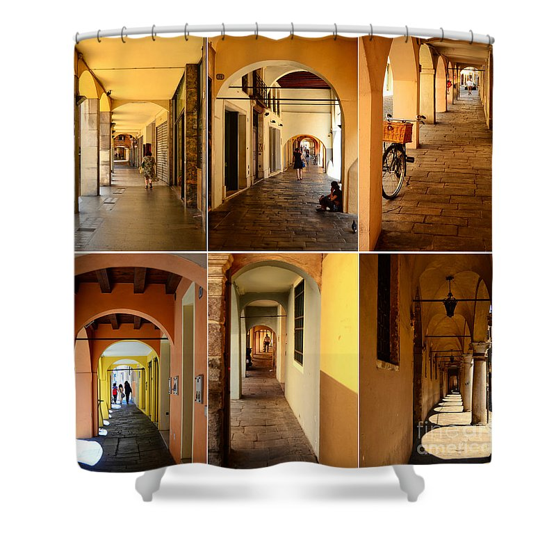 Italy Shower Curtain featuring the photograph Porticos Of Padua No 2 by Sabine Jacobs