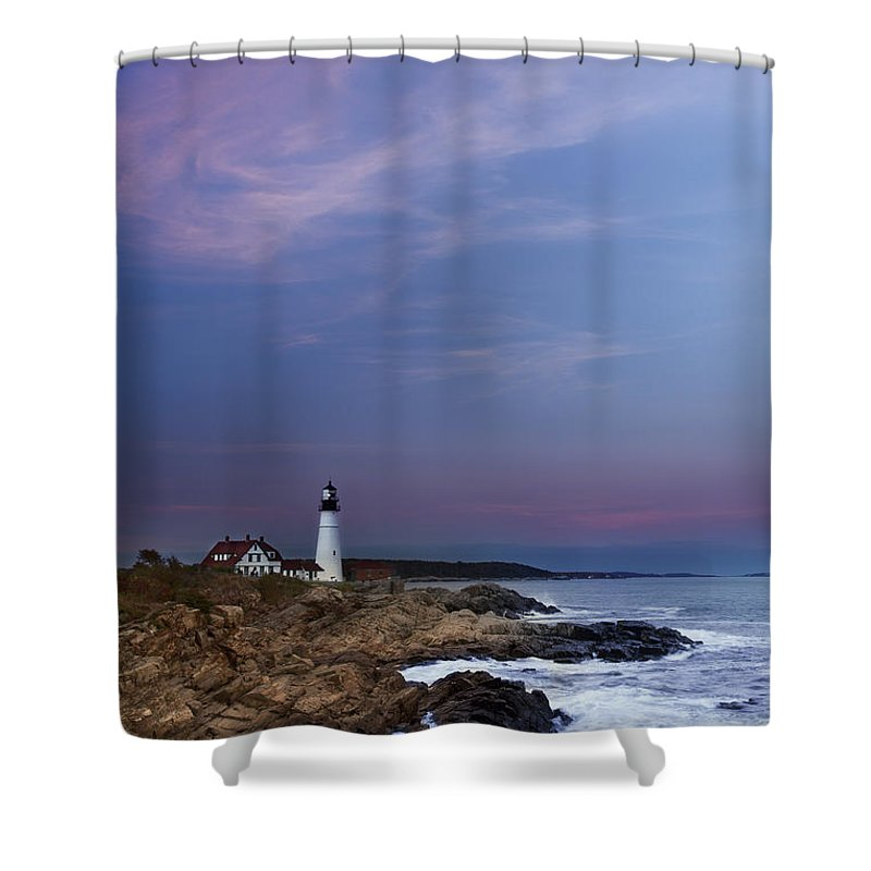 Portland Head Light Shower Curtain featuring the photograph Portland Head Light by Jonathan Steele