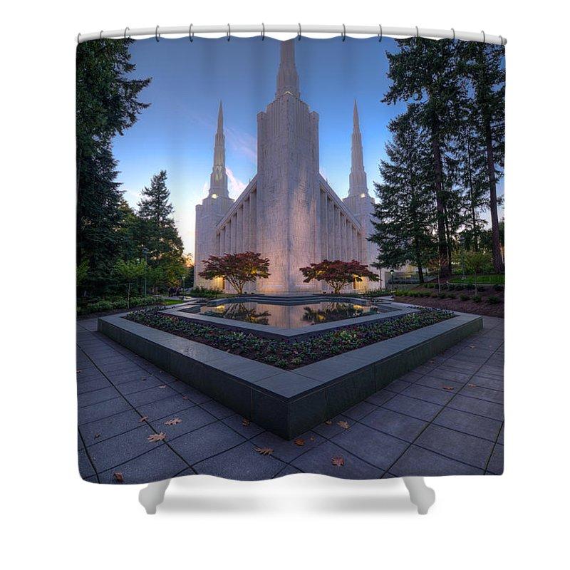 Portland Temple Shower Curtains