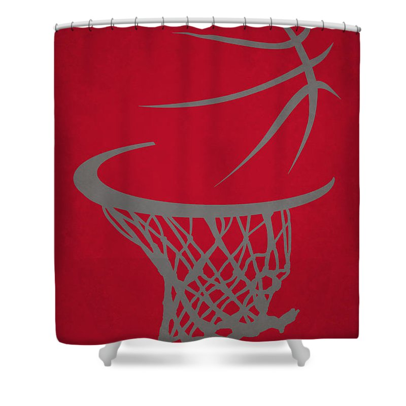 Trail Blazers Shower Curtain featuring the photograph Portland Trail Blazers Hoop by Joe Hamilton
