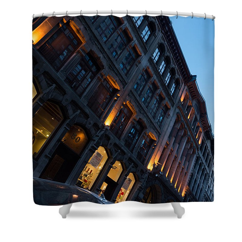Montreal Shower Curtain featuring the photograph Postcard From Montreal by Georgia Mizuleva