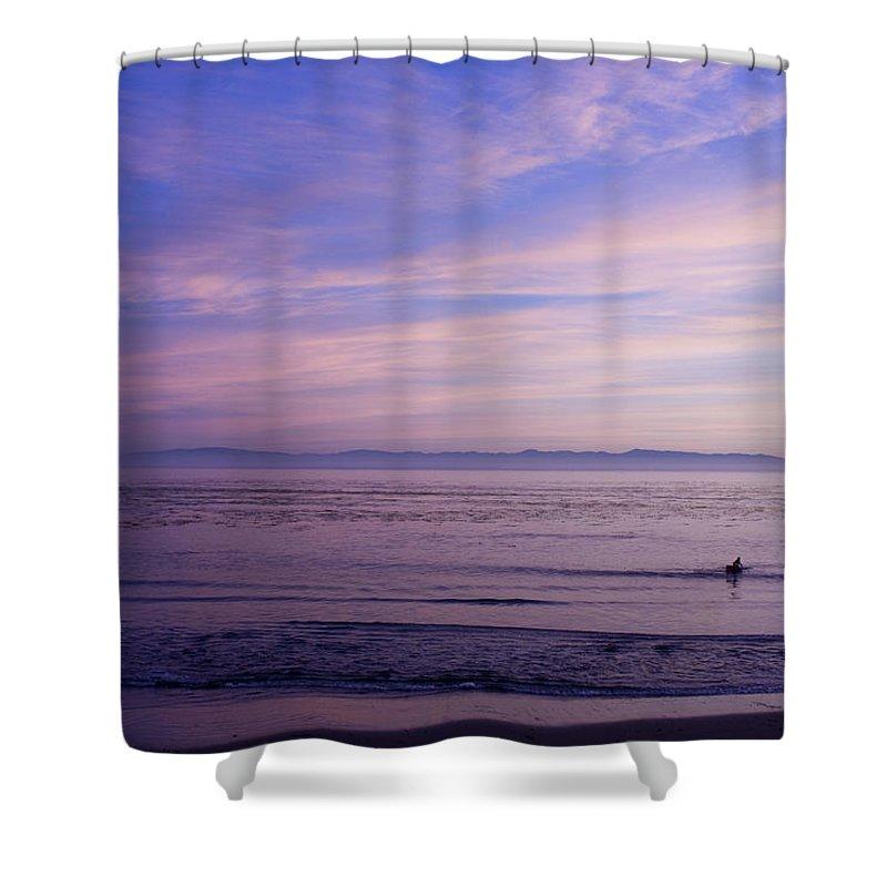 Landscape Shower Curtain featuring the photograph pr 241-Lavender Sunset by Chris Berry