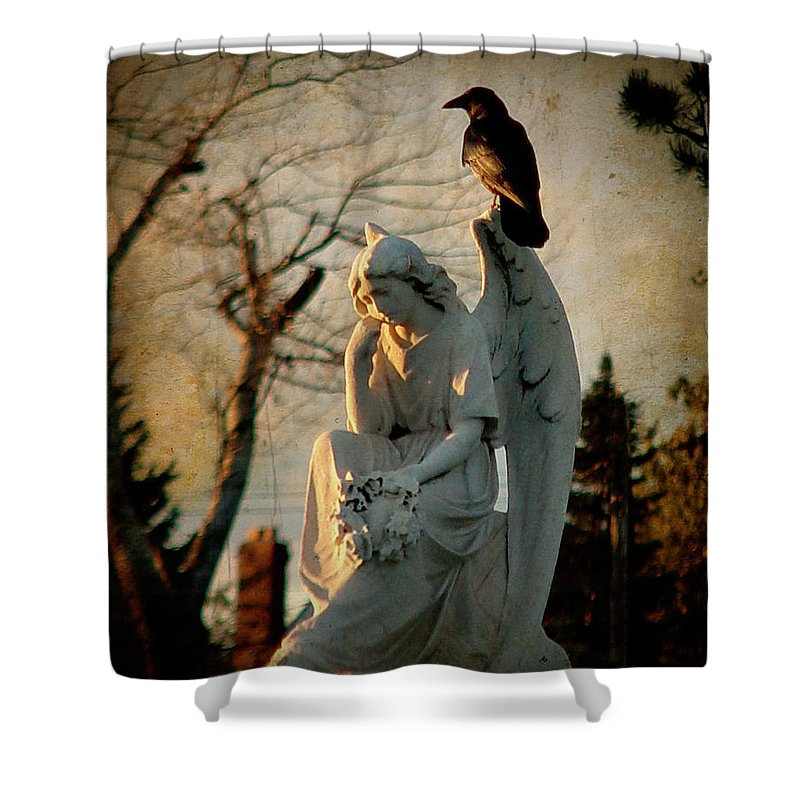Dusk Shower Curtain featuring the photograph Precious Light by Gothicrow Images