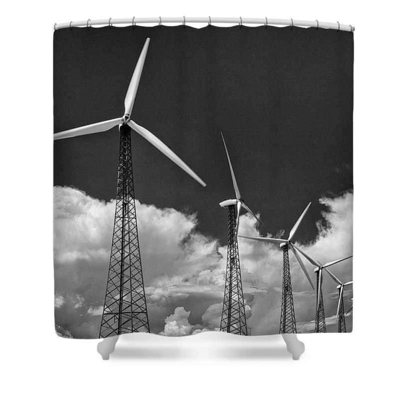 Windmills Shower Curtain featuring the photograph Predecessor Palm Springs by William Dey