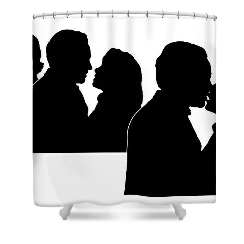 Prelude To A Kiss Shower Curtain featuring the digital art Prelude To A Kiss by Peter Piatt