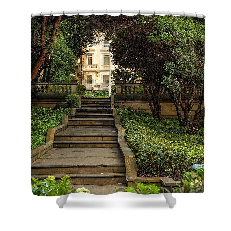 Garden Shower Curtain featuring the photograph Presidential Palace Garden by Jess Kraft