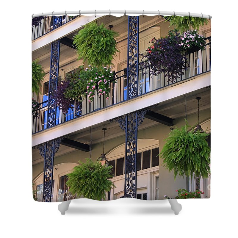 New Orleans Shower Curtain featuring the photograph Pretty Balcony by Carol Groenen