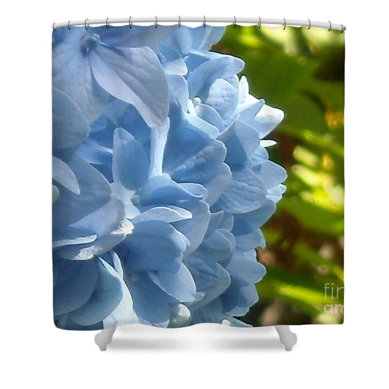 Flower Shower Curtain featuring the photograph Pretty Blue Flower by Line Gagne