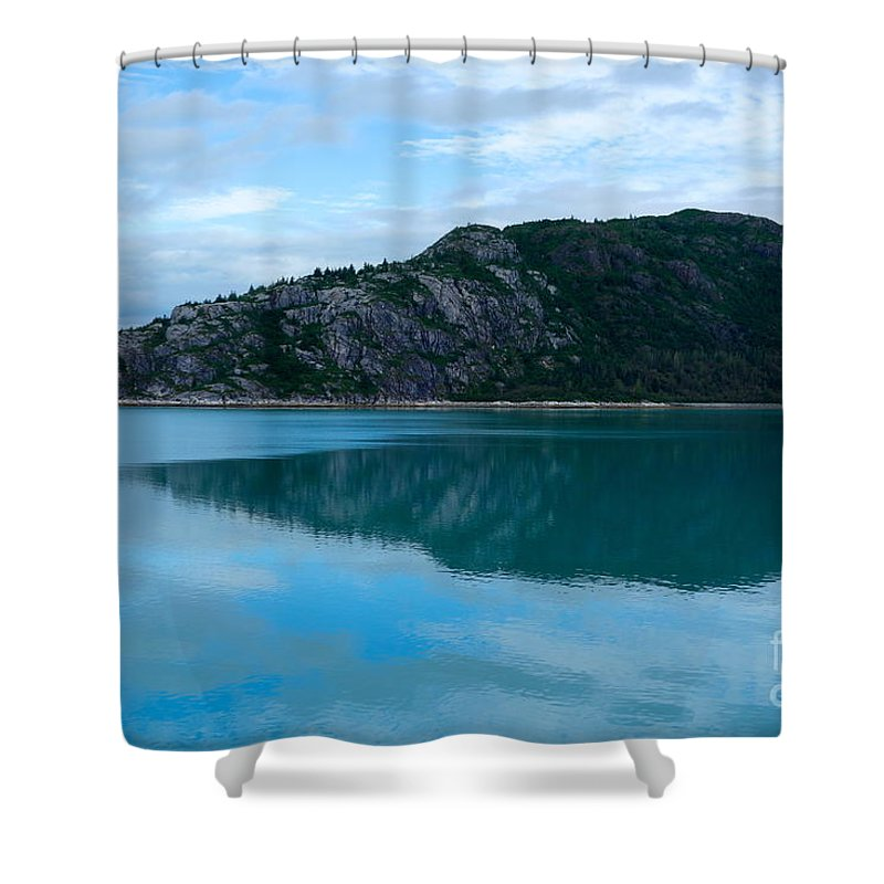 Glacier Bay Shower Curtain featuring the photograph Pretty In Blue by Jacqueline Athmann