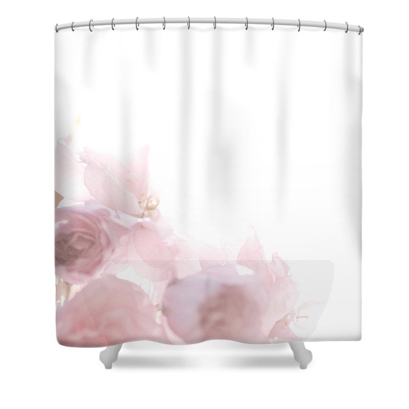 Art Shower Curtain featuring the photograph Pretty In Pink - The Dancer by Lisa Parrish
