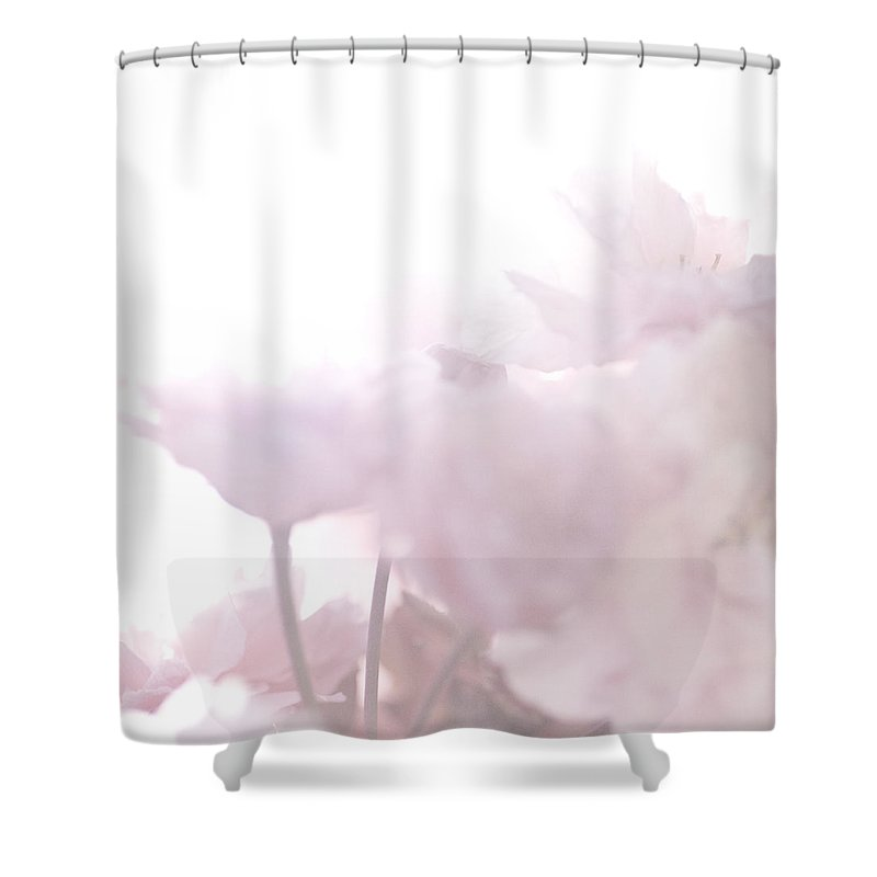 Art Shower Curtain featuring the photograph Pretty In Pink - The Whisper by Lisa Parrish