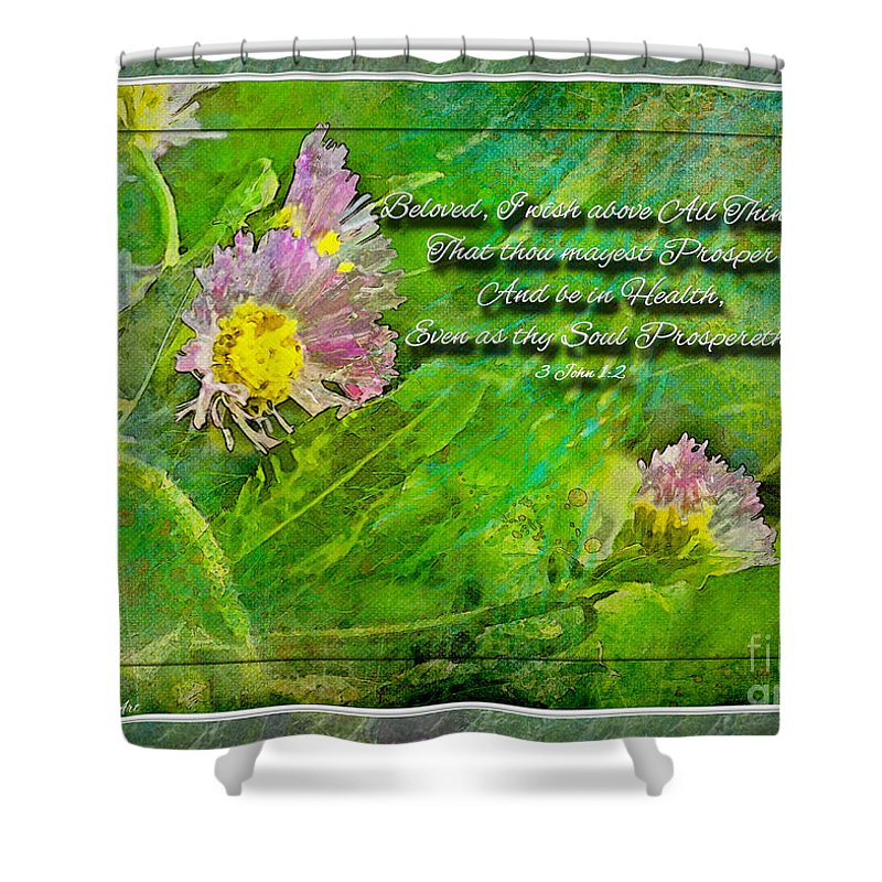 Nature Shower Curtain featuring the photograph Pretty Little Weeds With Photoart And Verse by Debbie Portwood
