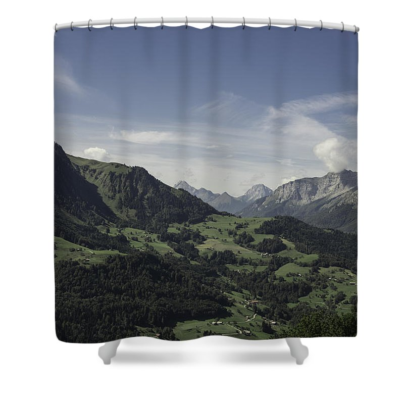 Clouds Shower Curtain featuring the photograph Pretty Sight Of The French Alps by Patrick Kessler