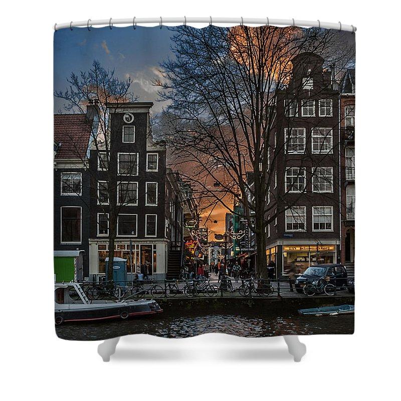 Holland Amsterdam Shower Curtain featuring the photograph Prinsengracht 743. Amsterdam by Juan Carlos Ferro Duque