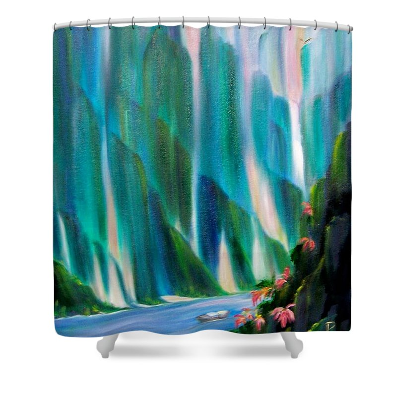Water Shower Curtain featuring the painting Prisms by Dina Holland