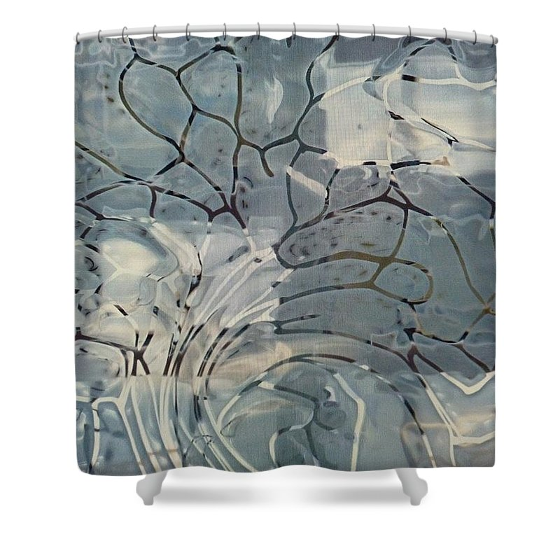 Privacy Window Shower Curtain featuring the mixed media Privacy Window by Michael Kegg