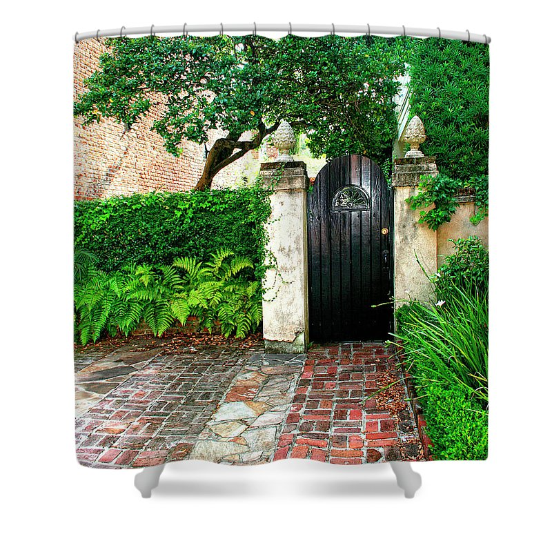 Charleston Shower Curtain featuring the photograph Private Charleston Charleston Sc by William Dey