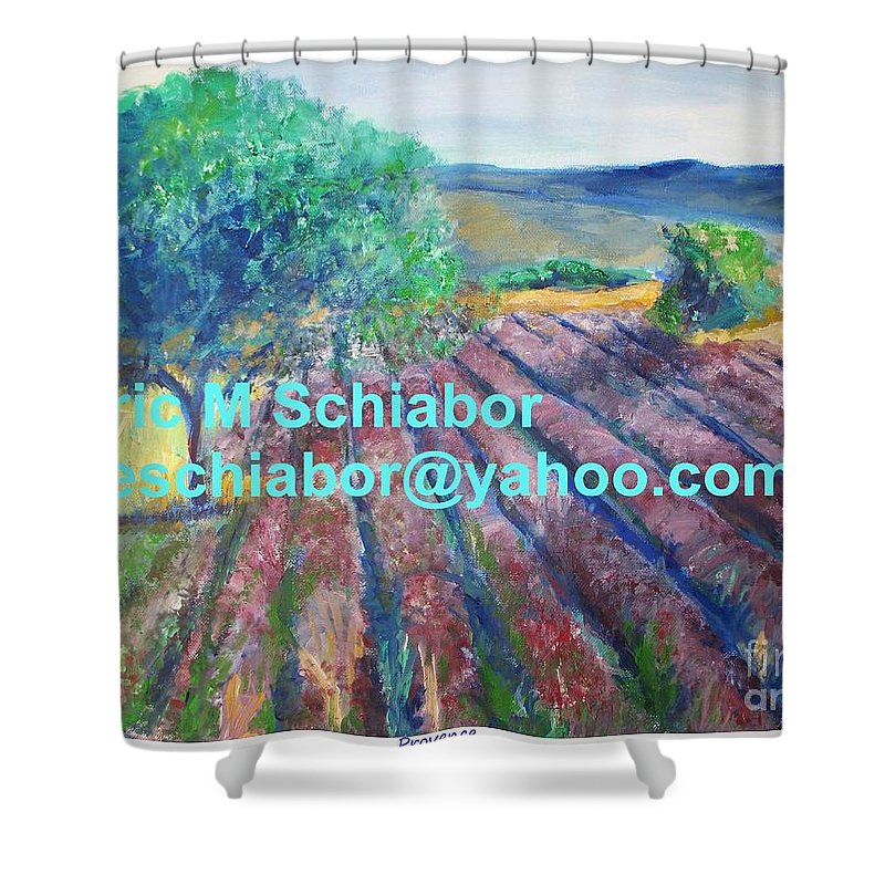 The Actor Shower Curtain featuring the painting Provence Lavender Field by Eric Schiabor